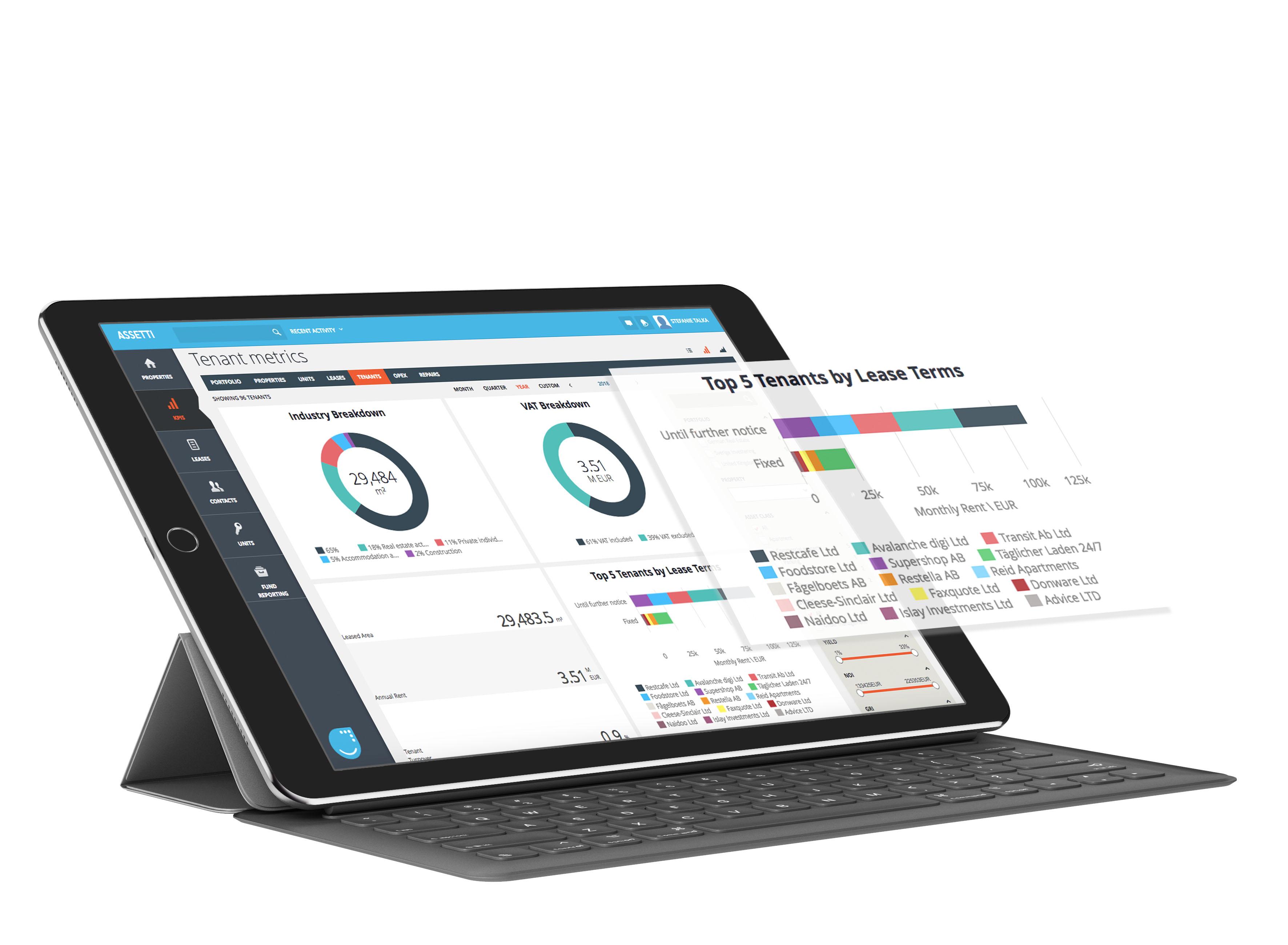 rental cashflow analyzing is possible in Assetti