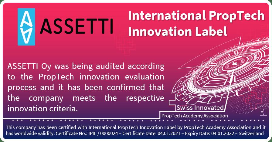 International PropTech Innovation Label